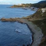 真澄は北海道へ渡るため、この海岸線の岩場を歩いたOLYMPUS DIGITAL CAMERA